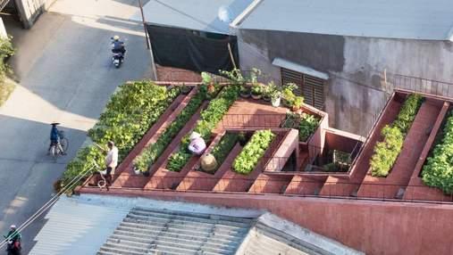 Архитектурный проект 2020: экологический дом с красной крышей во Вьетнаме – фото