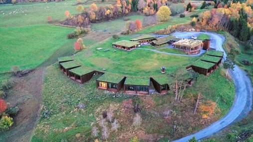 Новий рік під землею: фото незвичного готелю  із трав'яним дахом