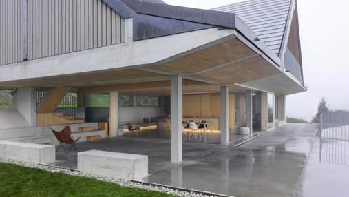 Удивительное сочетание камня и дерева: вблизи Цюриха построили дом-павильон – фото
