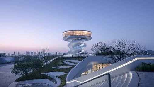 Дизайн, который черпает вдохновение из воды и неба: новый общественный центр в Китае – фото