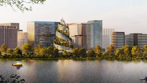 Вражаючий простір та екоспоживання: нова штаб-квартира Amazon у формі спіралі – фото