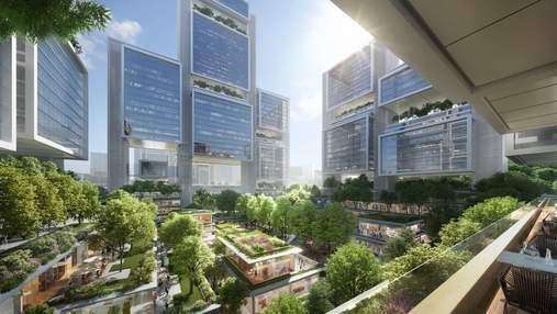 Зелена ода сучасності на транспортному вузлі: у Китаї збудують дивовижний комплекс