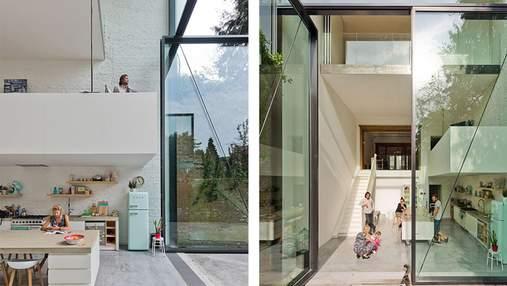 Перетворення буржуазної кам'яниці на скляний таунхаус: вражаючі фото