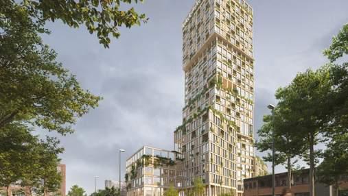 Самое высокое деревянное здание Европы: в Германии сводят небоскреб из необычных материалов