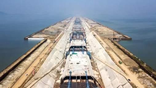 Китай будує підводний автотунель, який стане найдовшим у країні