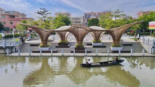 Бамбуковый зонт: конструкция, которая станет украшением любой набережной