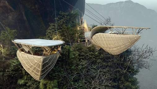 Полет над пропастью: удивительный ресторан в форме клюва с потрясающим видом