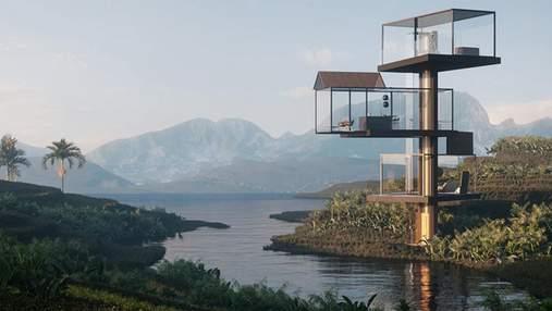 Инновационный проект среди горного ландшафта: стеклянный дом-обсерватория в Китае