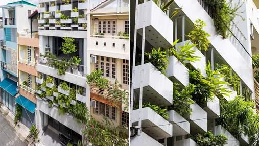 Зеленый фасад: необычный вид вьетнамского здания