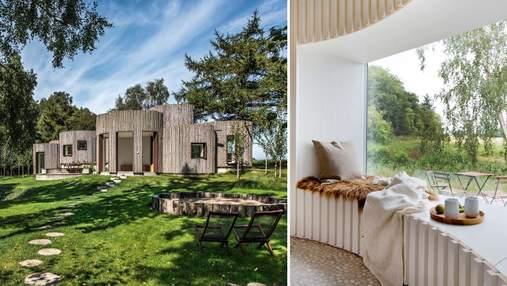 Странная форма: как выглядят цилиндрические комнаты в семейном доме