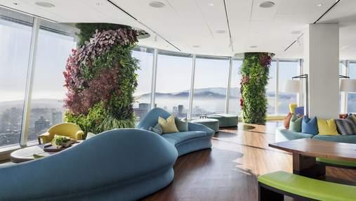Работа с наслаждением: в одном из офисов Сан-Франциско построили вертикальные сады