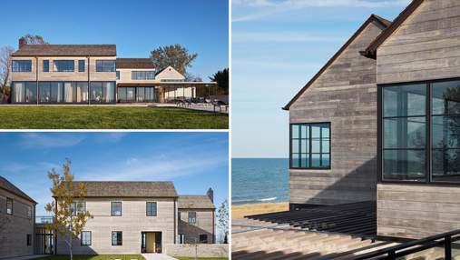 Домики у воды: необычный фасад волшебной виллы на берегу озера Мичиган