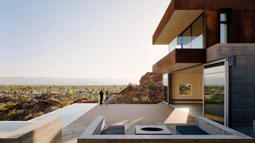 Горный минимализм: удивительный дом посреди пустыни