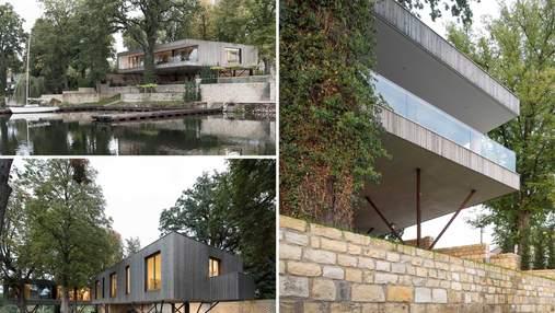 Дом рядом с рекой: невероятный дом, построенный на сваях