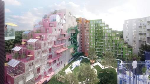 Футуристическая архитектура: тематический жилой комплекс в Амстердаме