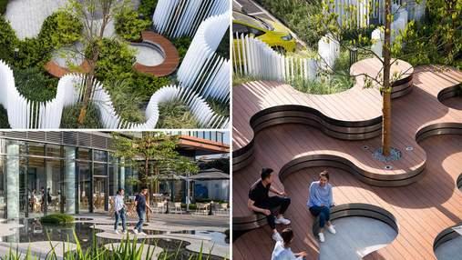 Городская инфраструктура: продуманный ландшафтный дизайн для парка