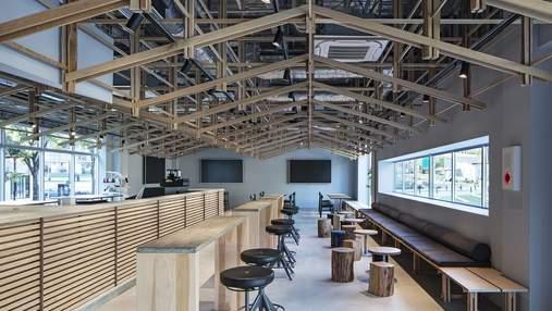 Совершенство дерева: кафе в Нагое, которое окутывает уютом