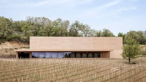 Элегантная винодельня среди виноградника: промышленный проект во Франции