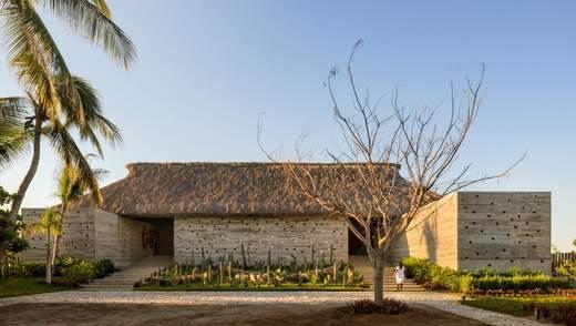 Гостиничный шик с соломенной крышей: новый необычный отель в Мексике – фото